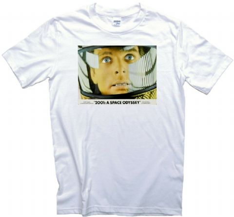 2001 A Space Odyssey Movie Poster T-Shirt. 12 Sizes. Keir Dullea Crew Sci Fi